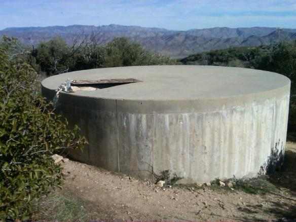 WRCS068 — Rodriguez Spur fire tank, at Pacific Crest Trail mile 68.4 was full on Feb. 15 (photo by Pathfinder).